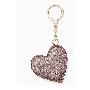 Kate Spade Glitter Heart Key Fob
